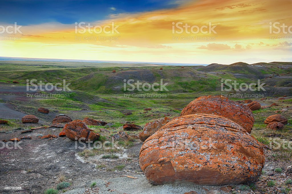 Red Rock Coulee Evening stock photo