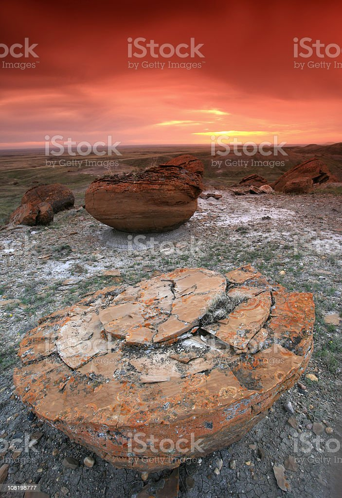Red Rock Coulee Landscape stock photo