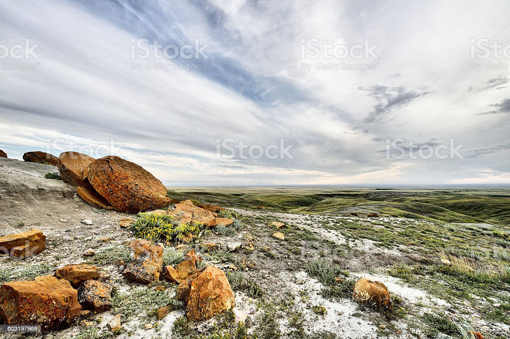 Red Rock Coulee Natural Area stock photo