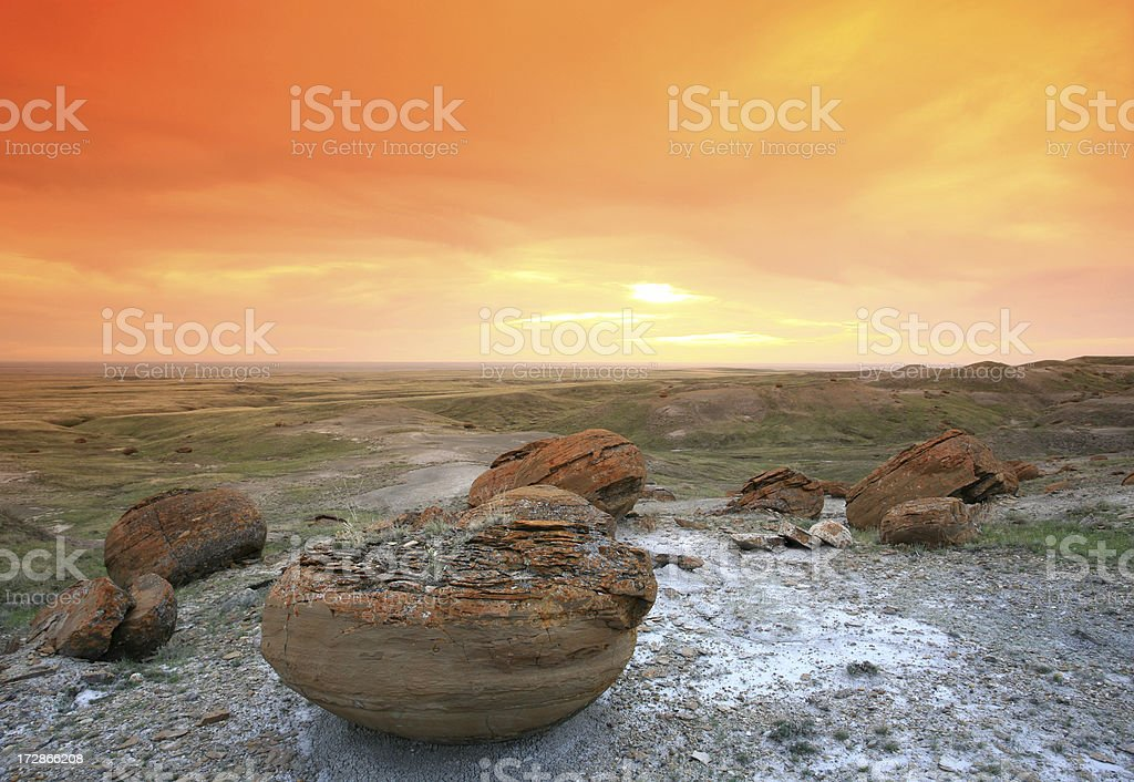 Red Rock Coulee royalty-free stock photo