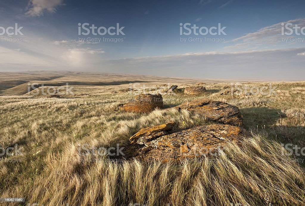 Red Rock Coulee stock photo