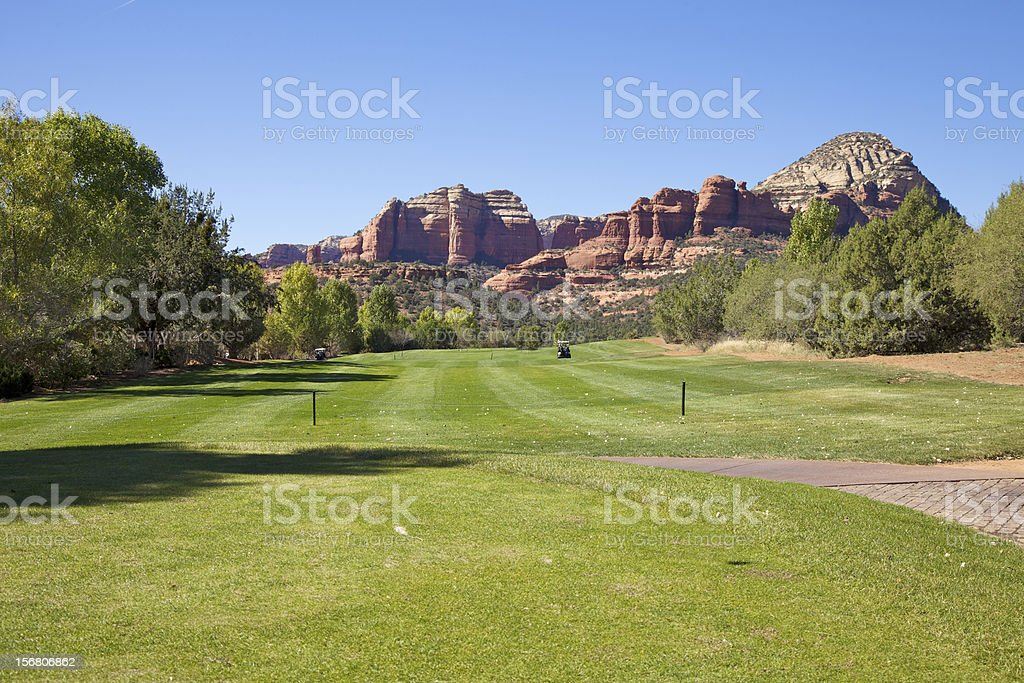 Red Rock Country Golf royalty-free stock photo