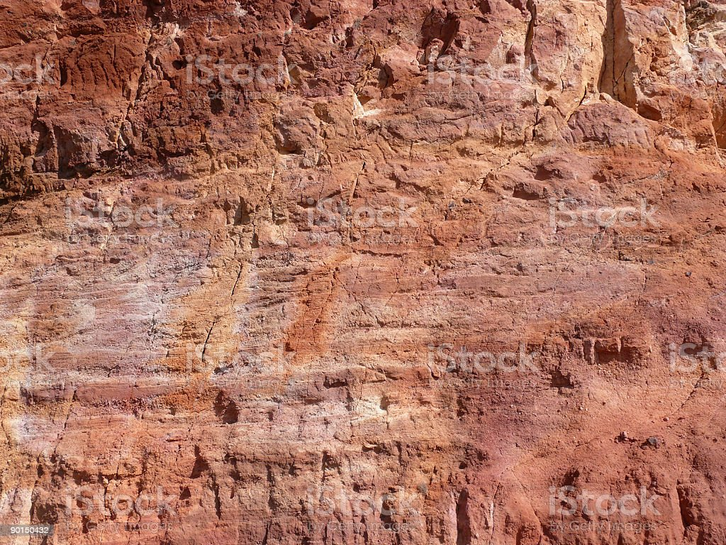 Red Rock Face royalty-free stock photo