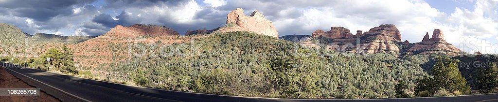 Red rock formation at Sedona Arizona panorama royalty-free stock photo