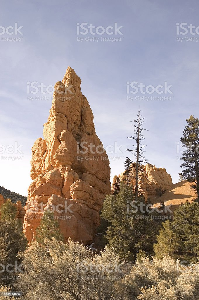 Red Rock Formation in Bryce Canyon, Utah royalty-free stock photo