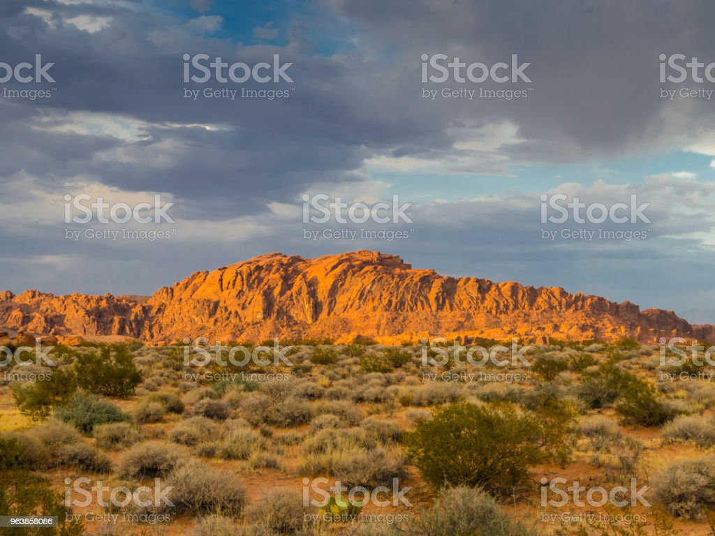 Red rock formations at Valley of Fire State Park (NV) - Royalty-free Accidents and Disasters Stock Photo