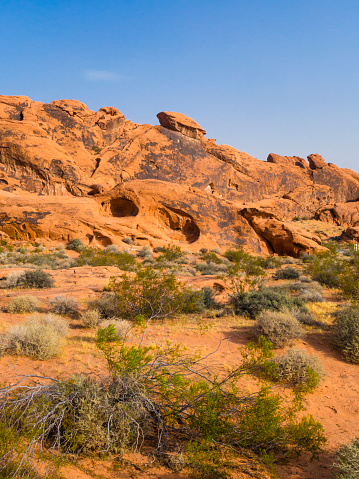 Red Rock Formations At Valley Of Fire State Park Stock Photo - Download Image Now