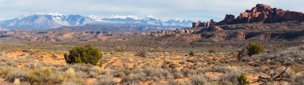 roten felsformationen in der nähe von canyonlands national park, utah. - own wilson stock-fotos und bilder
