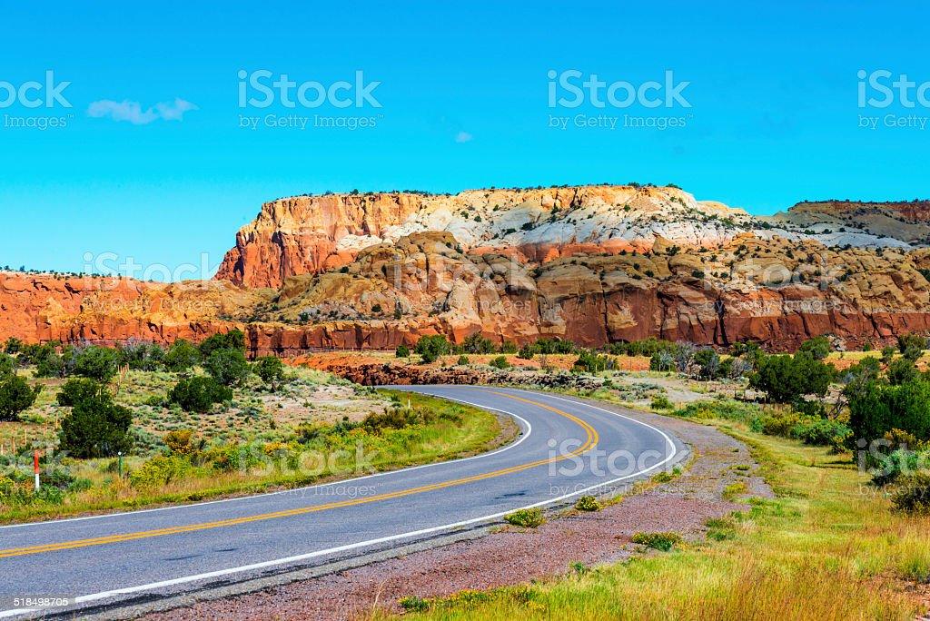 Red Rock Highway stock photo