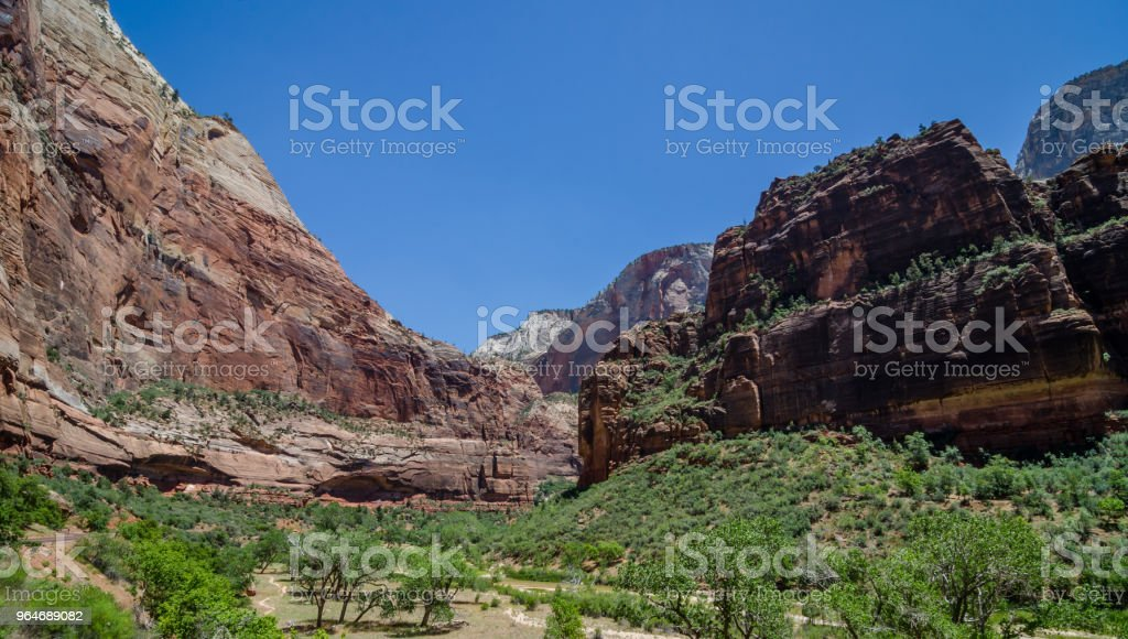 Red Rock mountains in Zion National Park royalty-free stock photo