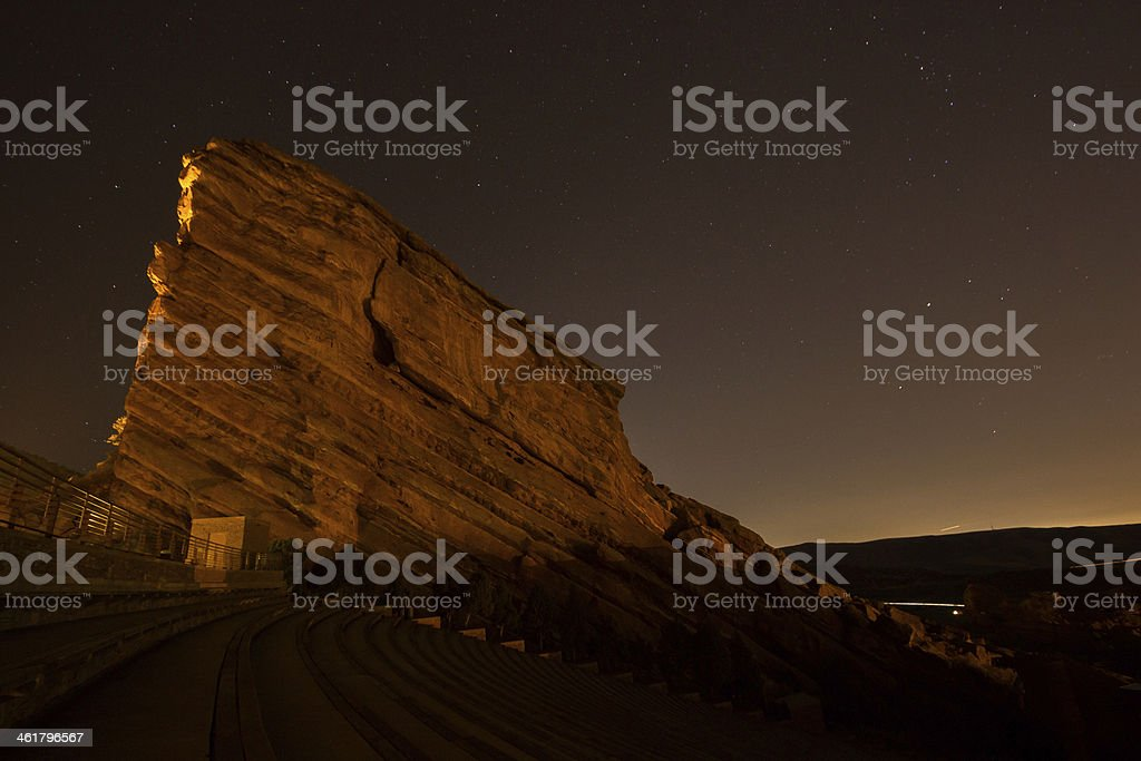 Red Rock Night stock photo