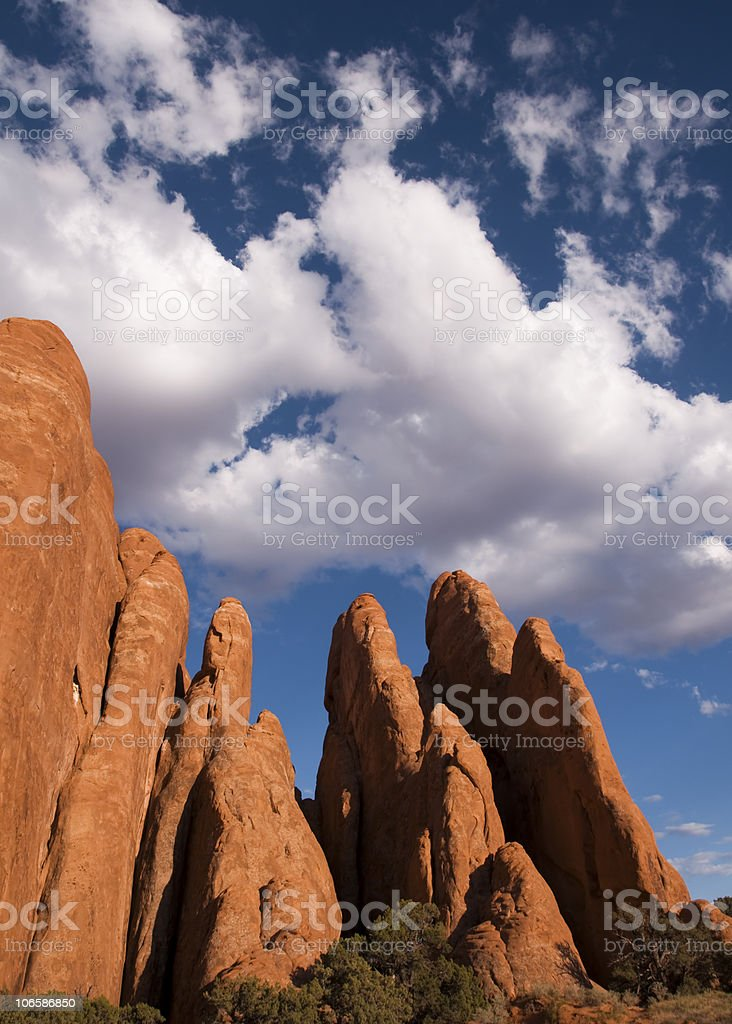 Red Rock on Blue Sky stock photo