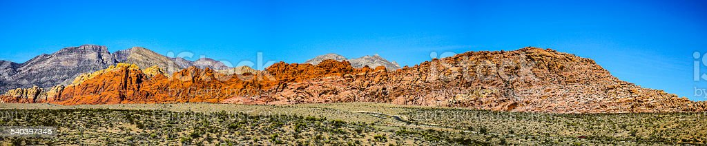 Red Rock Panorama stock photo