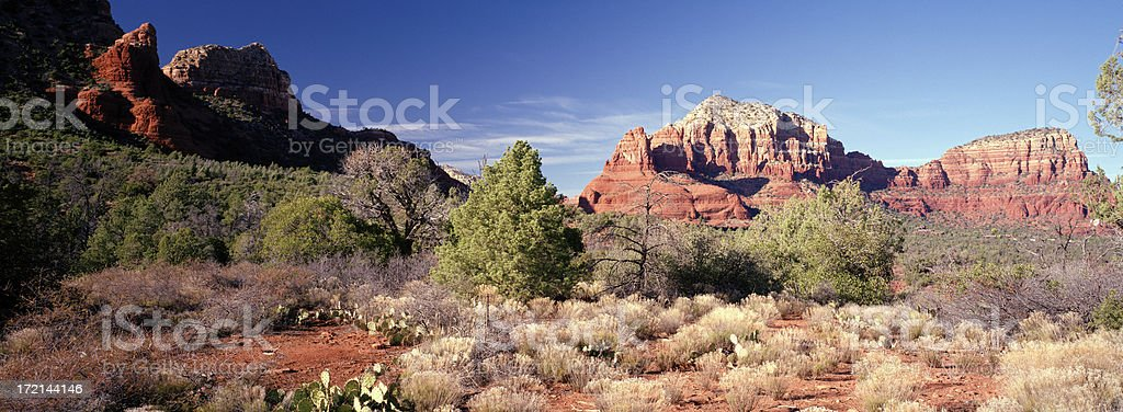 Red Rock Trail View at Sedona royalty-free stock photo