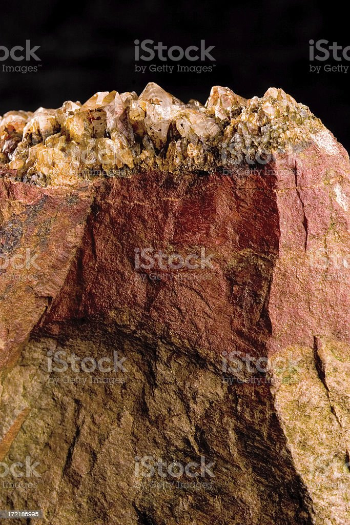 red rock with crystals royalty-free stock photo