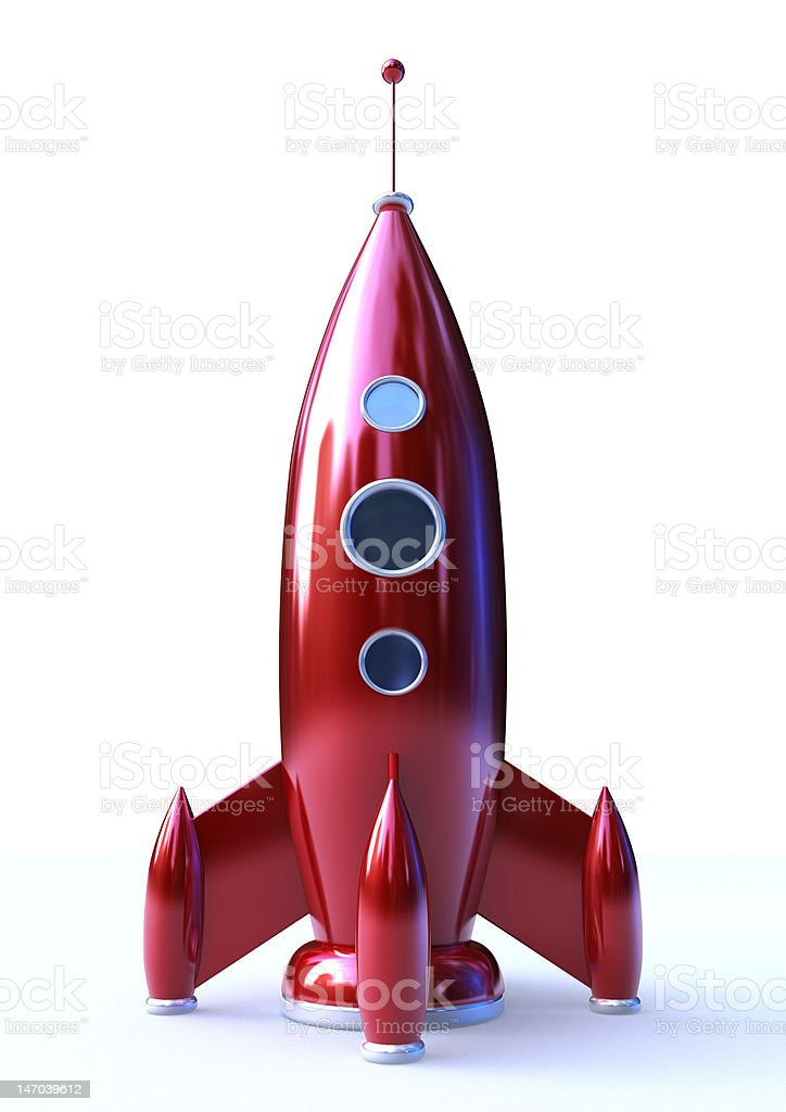 Red Rocket stock photo
