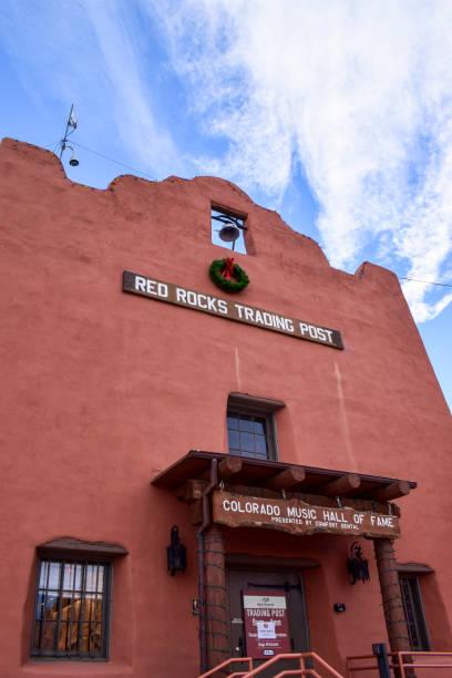 Red Rocks Amphitheatre, Colorado, USA stock photo
