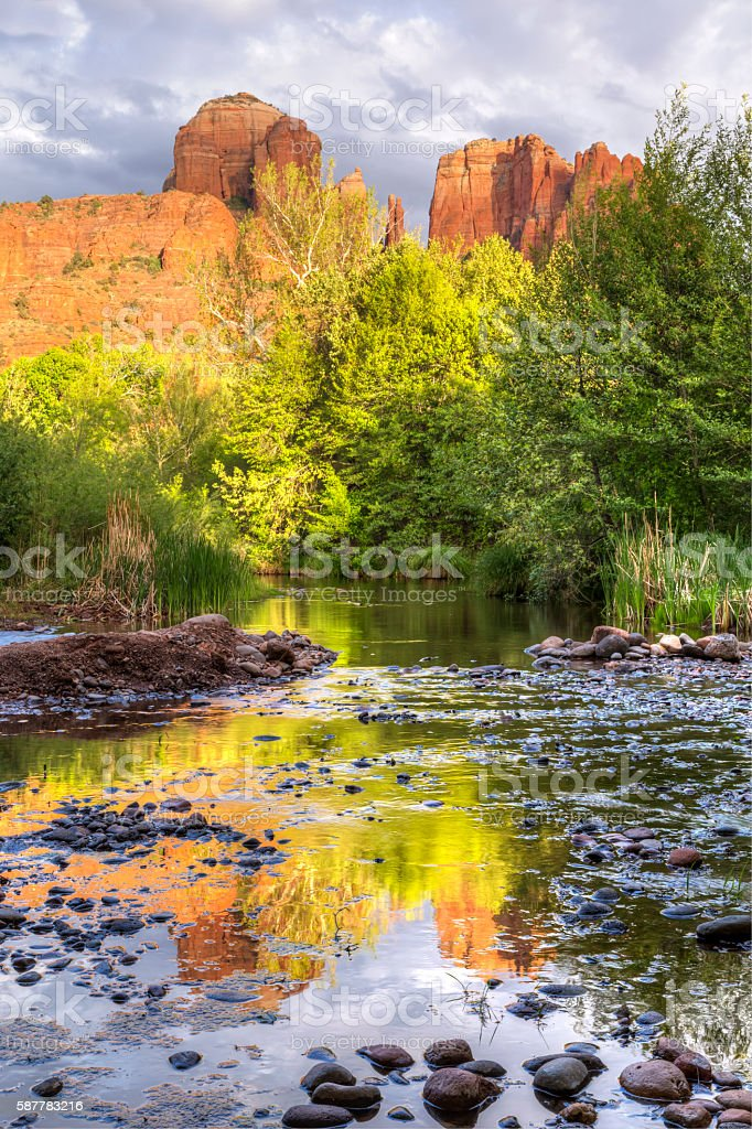 Red Rocks and Reflections stock photo