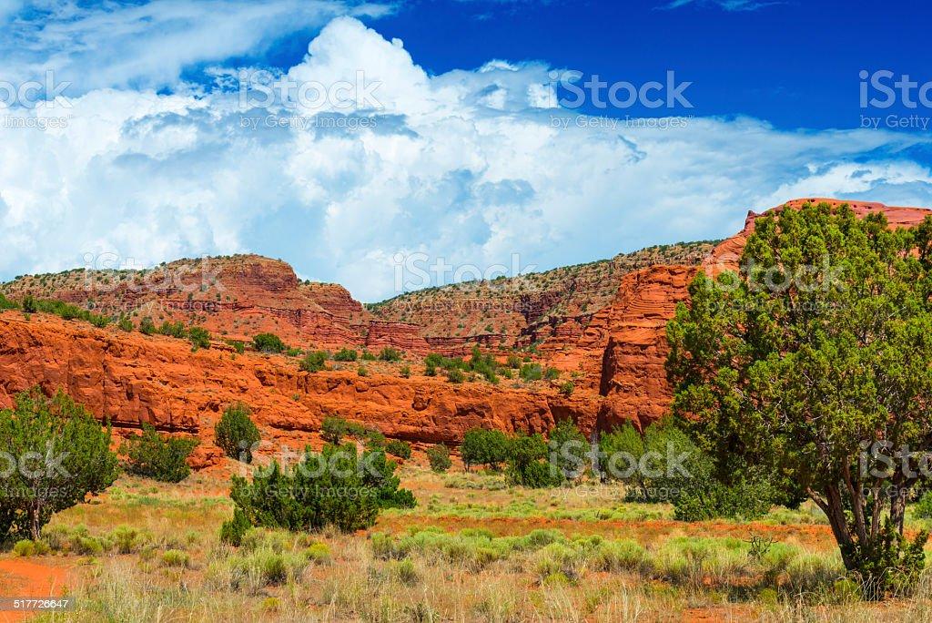 Red Rocks at Pueblo of Jemez stock photo