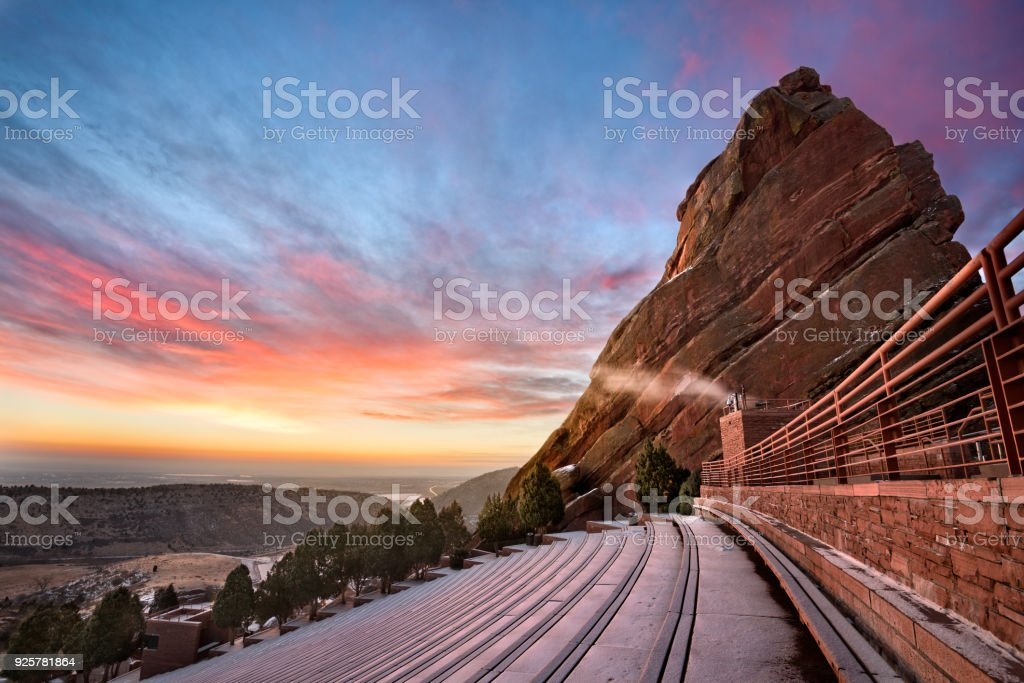 Red Rocks at Sunrise stock photo