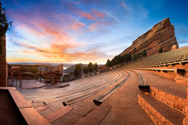 red rocks at sunrise - red rocks stock pictures, royalty-free photos & images