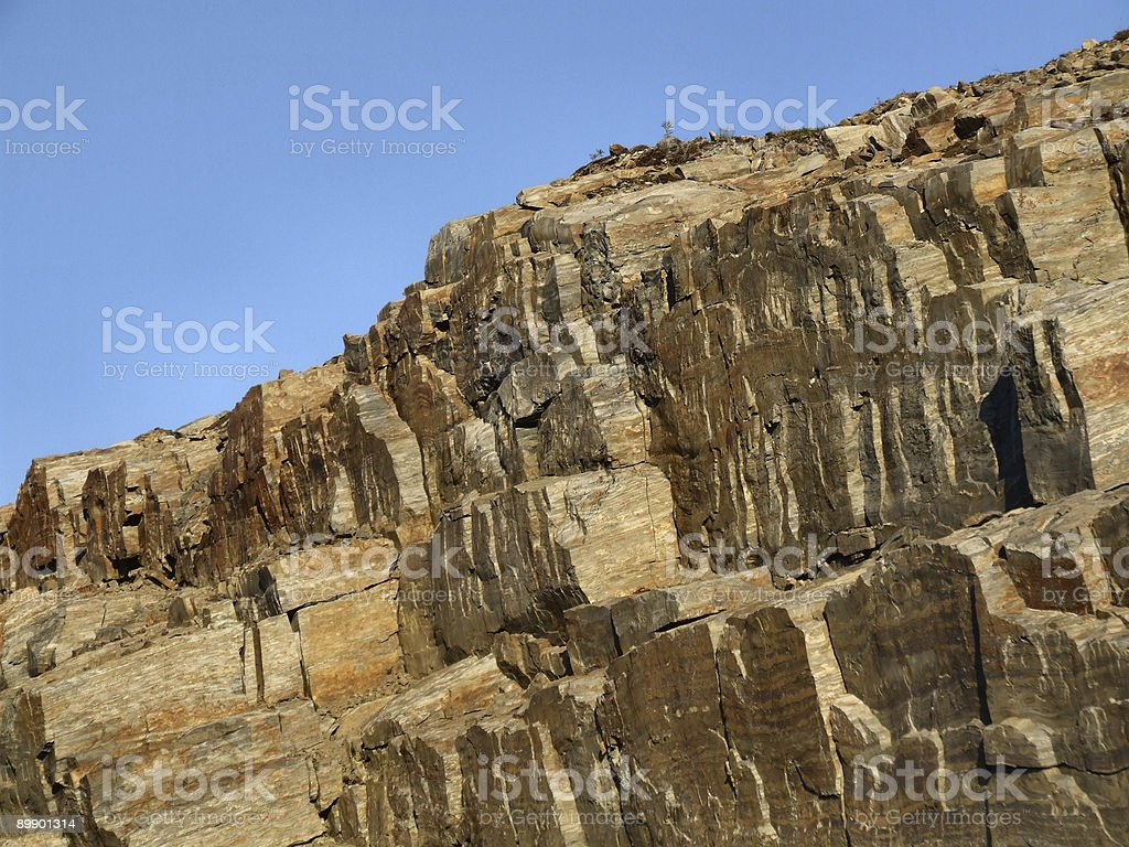 Red rocks - bare rock surface royalty-free stock photo