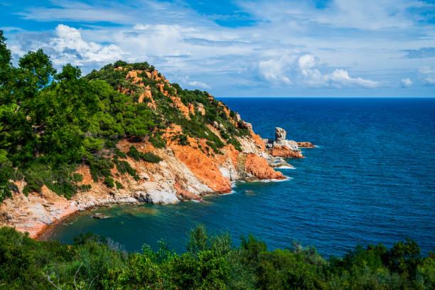 Rote Felsen Bucht bei Arbatax-Sardinien – Foto