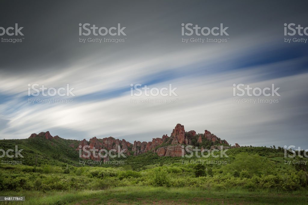 Red rocks stock photo