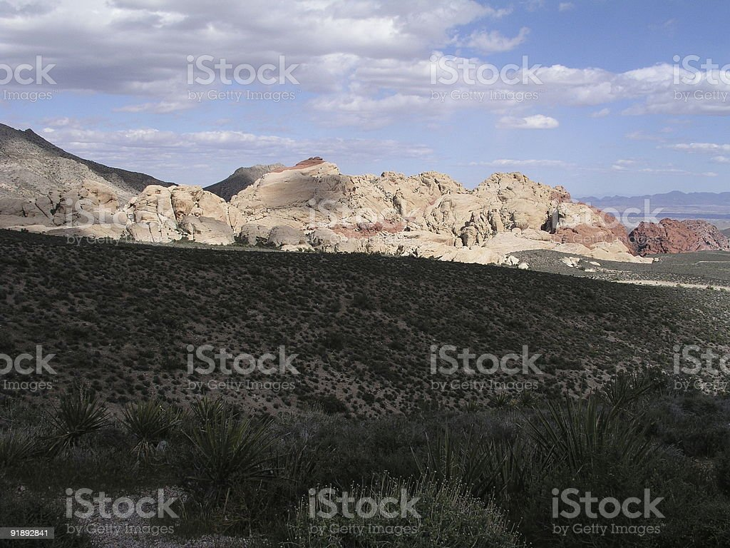 Red Rocks Valley royalty-free stock photo