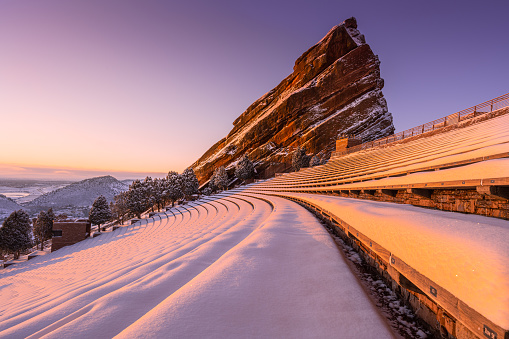 First light in Red Rocks Ampitheatre