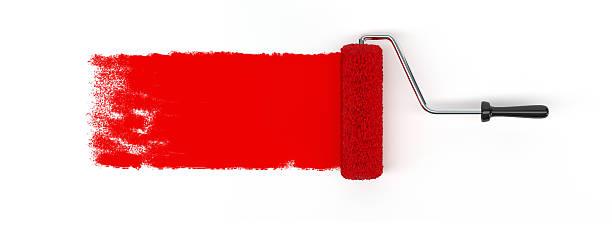 Brosse à rouleau rouge - Photo