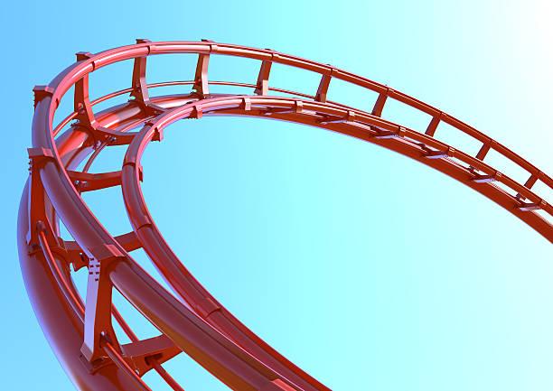 montaña rusa rojo - roller coaster fotografías e imágenes de stock