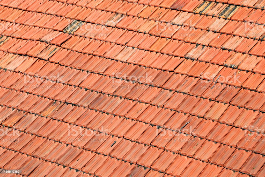 Red Roof Tile Texture royalty-free stock photo