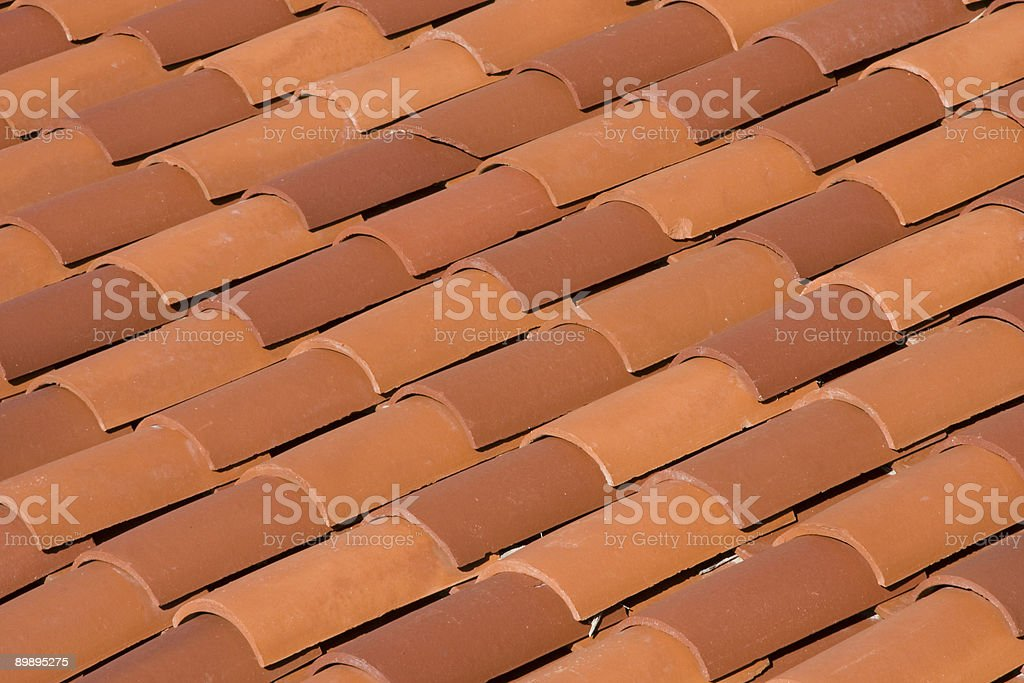 Red Roof Tiles royalty-free stock photo