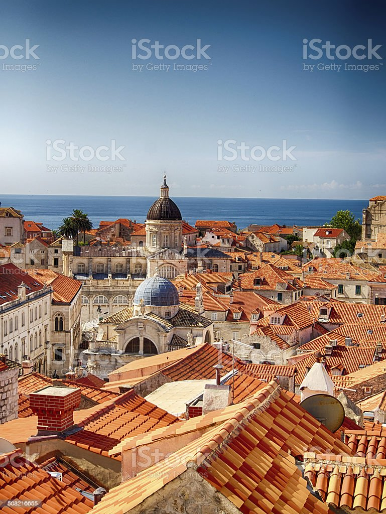Red Roofs Of Dubrovnik, Croatia stock photo
