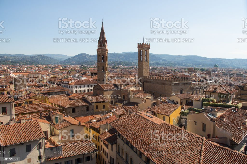 Red roofs of Florence from Palazzo Vecchio in a sunny day, Tuscany, Italy. royalty-free stock photo