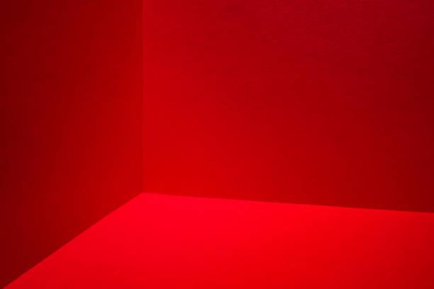 Red room corner stock photo