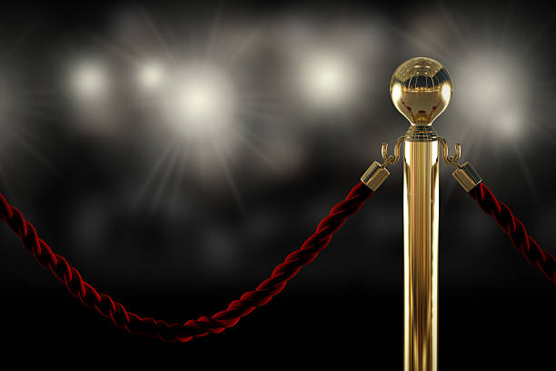 red rope barrier close-up - celebrities stock pictures, royalty-free photos & images