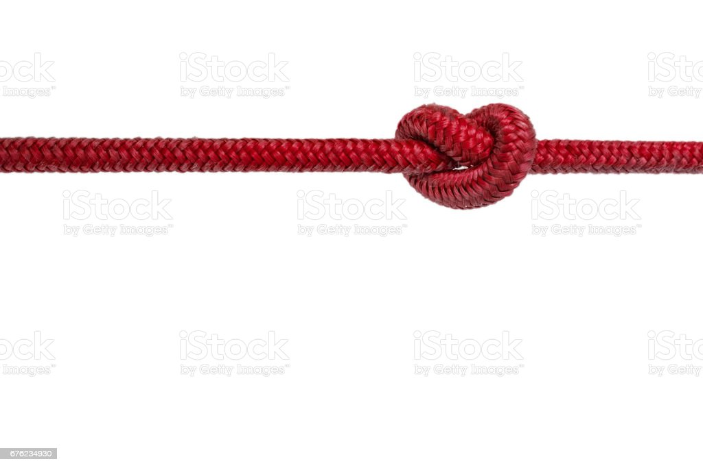 red rope with knot stock photo more pictures of cable istock. Black Bedroom Furniture Sets. Home Design Ideas