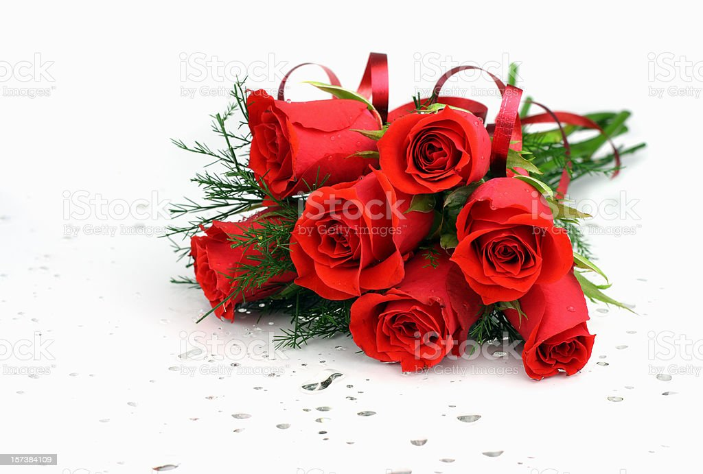 Red rose bouquet for valentines royalty-free stock photo