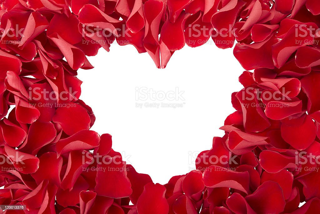 Red Rose Heart royalty-free stock photo