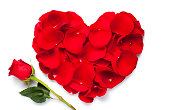 istock Red rose heart 147993711