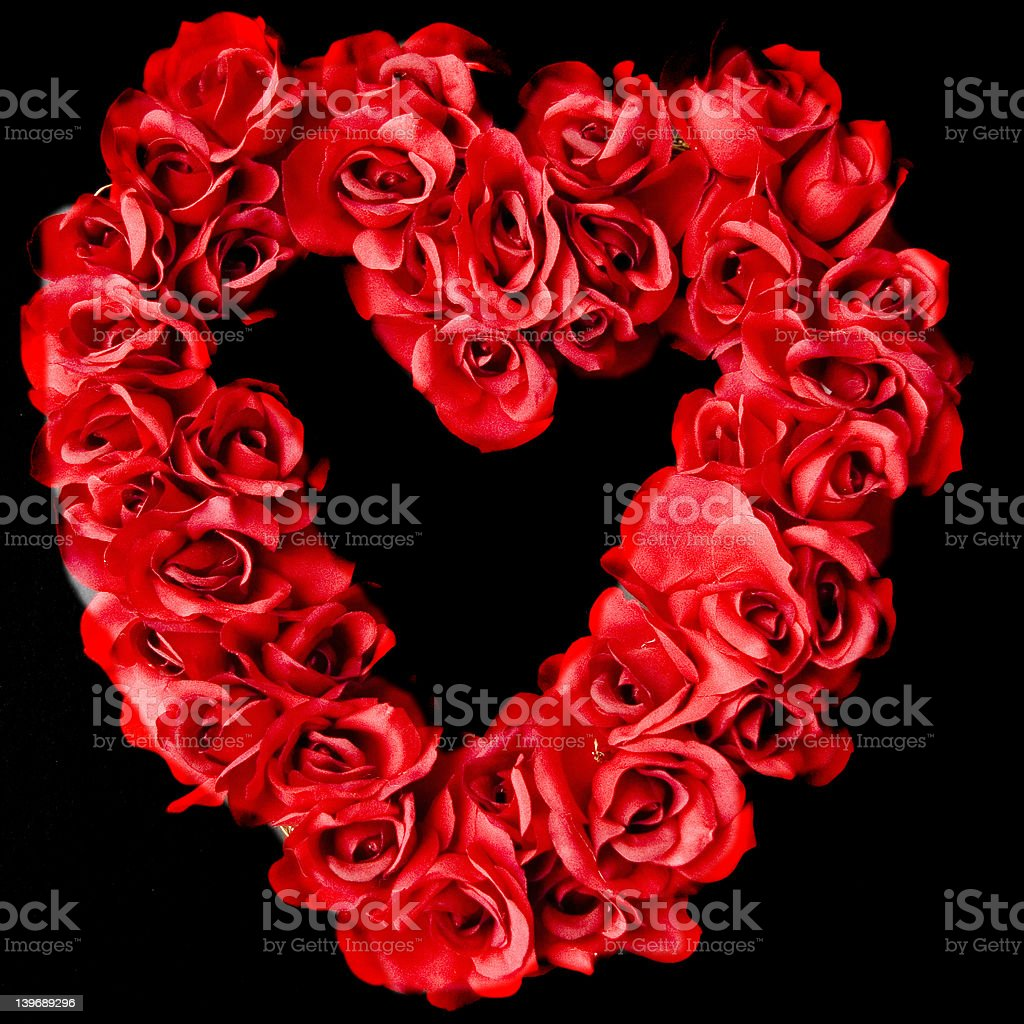 Red rose heart wreath royalty-free stock photo