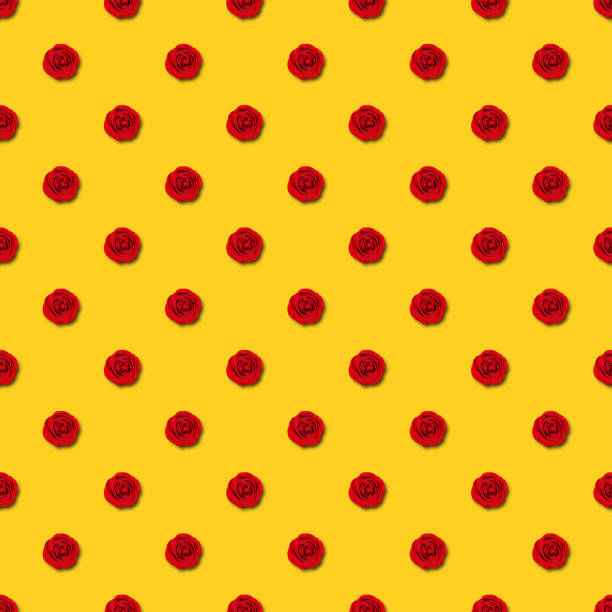 Red rose seamless pattern on yellow background picture id1303505307?b=1&k=6&m=1303505307&s=612x612&w=0&h=fz3guo5zpxoplyrad97hekzk9a8hzab98216pieeezo=