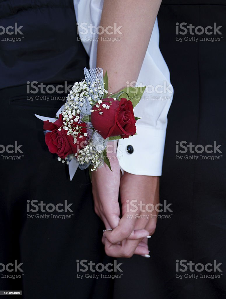 Red Rose Wrist Corsage royalty-free stock photo