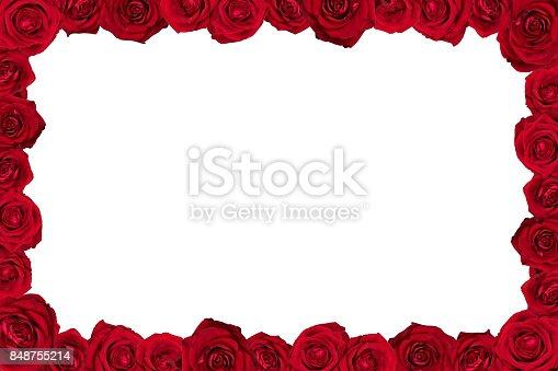 istock red roses frame 848755214