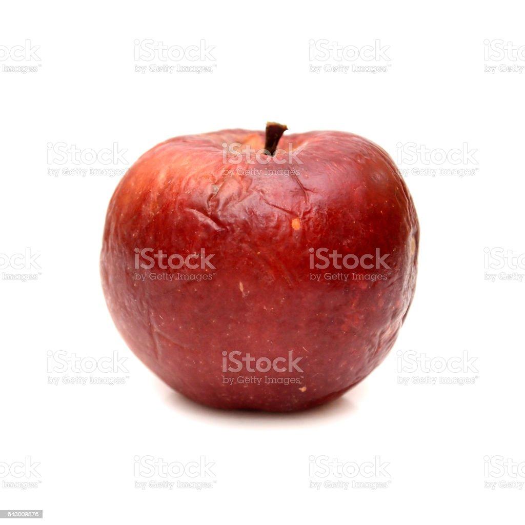 Roten fauler Apfel, isoliert, natürliche Farbe und Textur – Foto