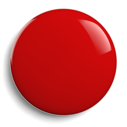 istock Red Round Blank Red Button 959978484