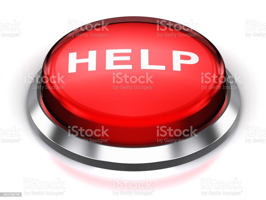 Red round Help button stock photo