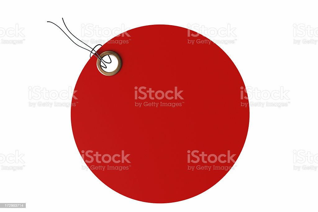 Red Round Tag royalty-free stock photo